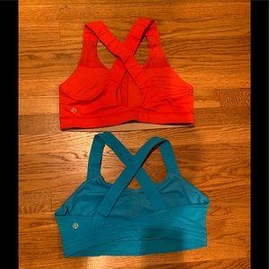 Lululemon Red and Blue Sport Bra Bundle